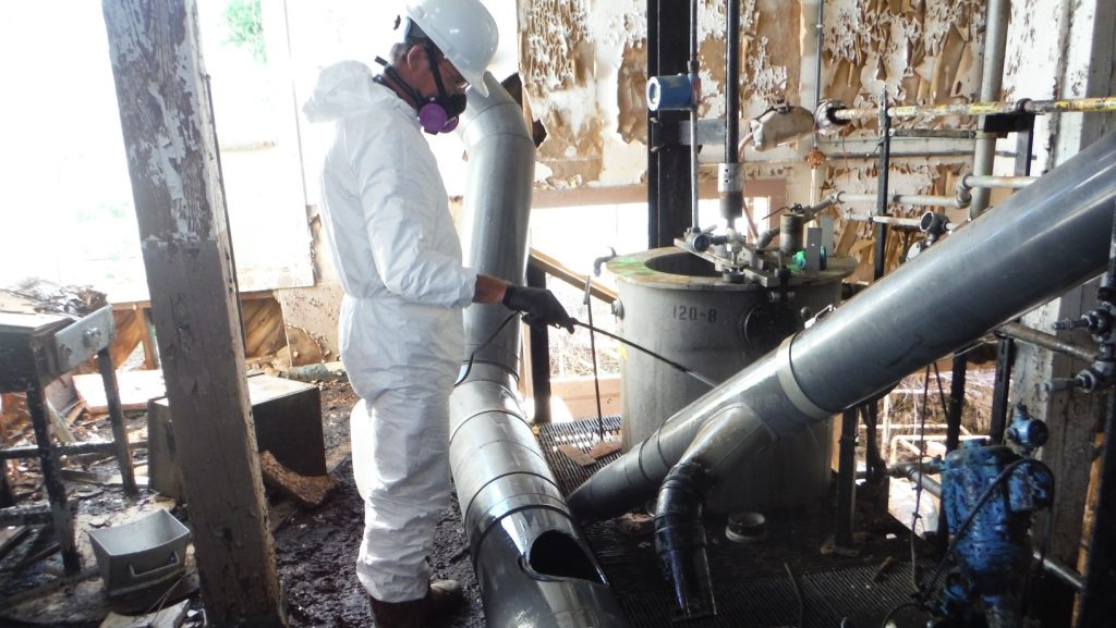 Spraying MuniRem at LCAAP